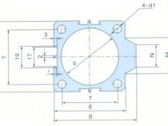 SDA 铝合金薄型气缸管A型